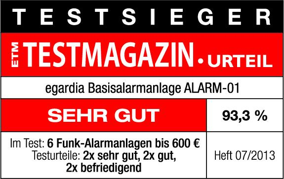 testsieger alarmanlagen test etm testmagazin egardia. Black Bedroom Furniture Sets. Home Design Ideas
